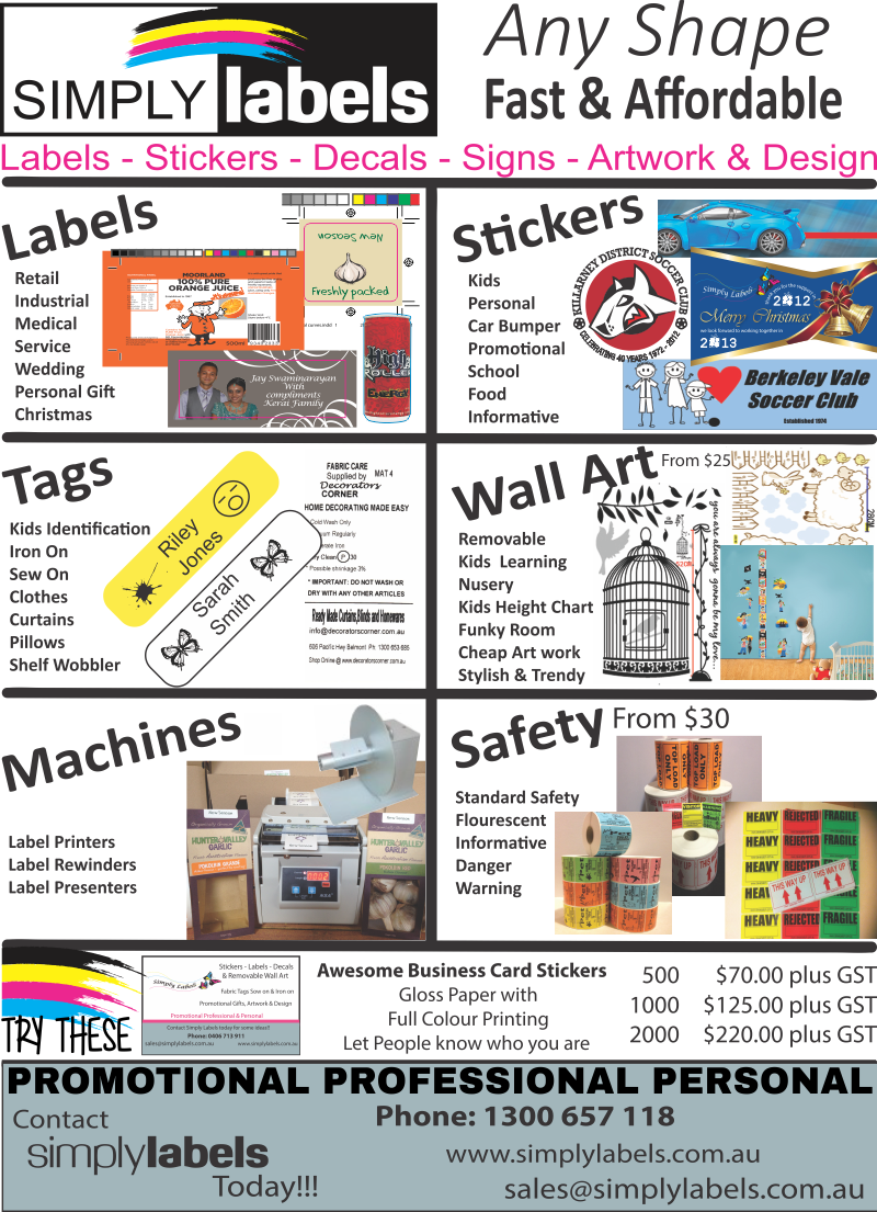 simply labels products & services