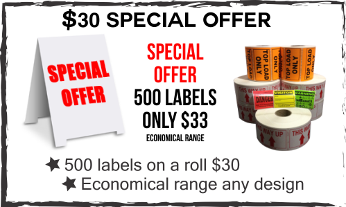 Decals specials on label printing central coast