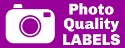 photo quality labels