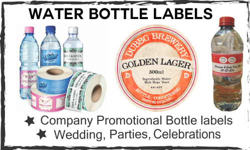 water bottle labelling